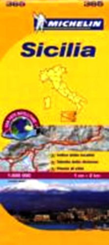 9780785902676: Michelin Local Map No. 365 Sicilia (Sicily) Scale 1:200,000 (French Edition)