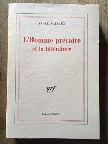 9780785913498: L''Homme precaire et la litterature