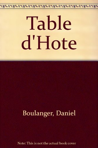 9780785920236: Table d'Hote