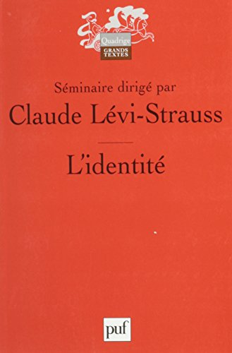 L'\Identite (0785930086) by Levi-Strauss, Claude; Levi­Strauss, Claude
