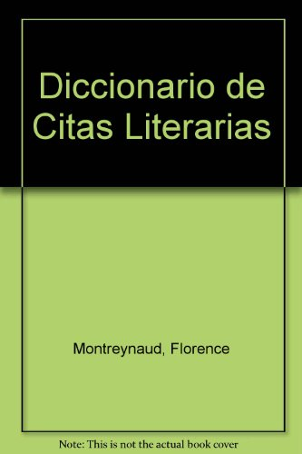 9780785957713 Diccionario De Citas Literarias Abebooks