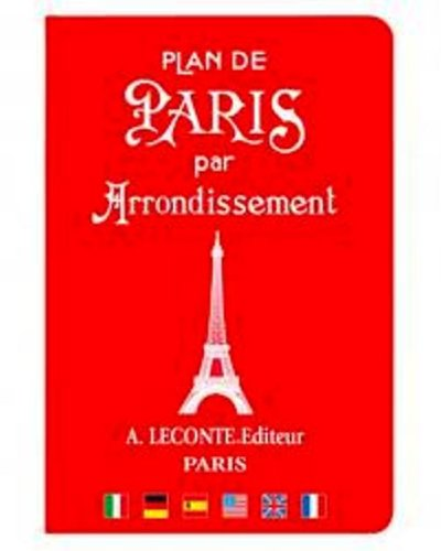 9780785991823: Plan de Paris par Arrondissement: Paris Street Guide by District (English and French Edition) Cover comes in four different colors
