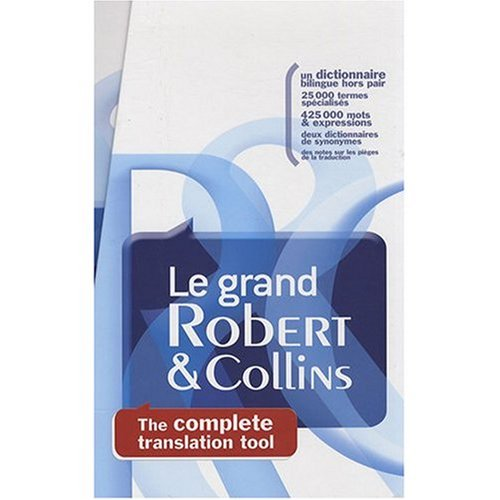 9780785992219: Robert Collins Super Senior French to English and English to French Dictionary. 2 Volumes : Le Grand Robert et Collins Dictionnaire Francais - Anglais ... en deux volumes (English and French Edition)