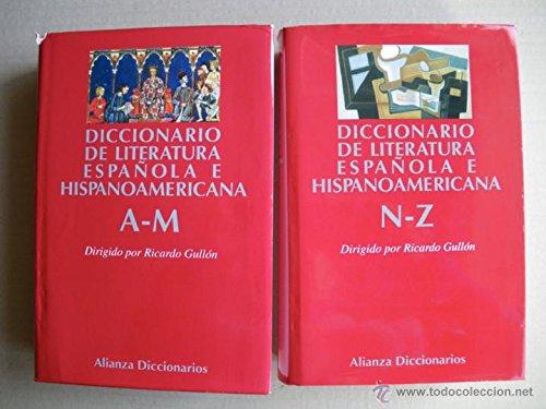 9780785998624: Diccionario de Literatura Espanola e Hispanoamericana 2 vols.