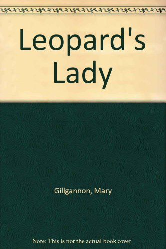 Leopard's Lady (0786001534) by Mary Gillgannon