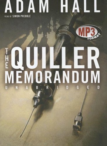 9780786173709: The Quiller Memorandum