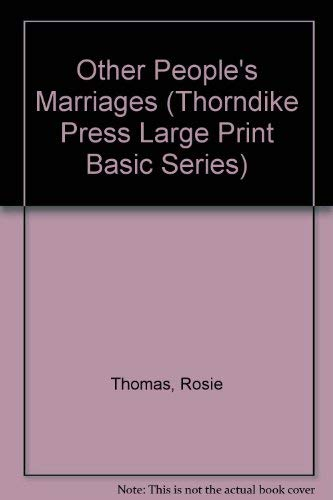 9780786203277: Other People's Marriages (Thorndike Press Large Print Basic Series)