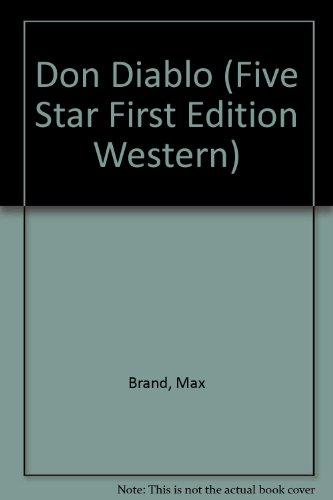 9780786223862: Don Diablo (Five Star First Edition Western)