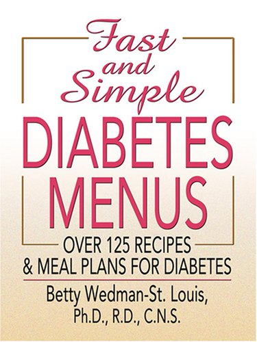 9780786295241: Fast and Simple Diabetes Menus (Thorndike Health, Home & Learning)