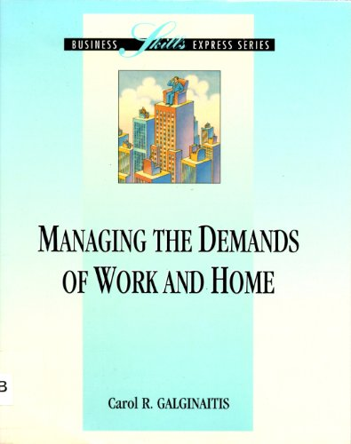 9780786302215: Managing the Demands at Work and Home