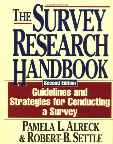 9780786303588: The Survey Research Handbook (The Irwin Series in Marketing)