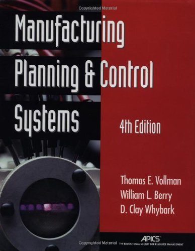 9780786312092: Manufacturing Planning and Control Systems