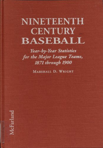 9780786401819: Nineteenth Century Baseball: Year-By-Year Statistics for the Major League Teams, 1871 Through 1900
