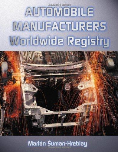 9780786409723: Automobile Manufacturers Worldwide Registry