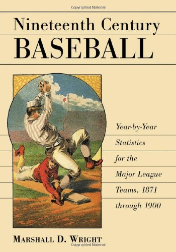 9780786418954: Nineteenth Century Baseball: Year-By-Year Statistics for the Major League Teams, 1871 Through 1900
