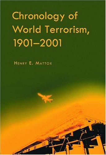 9780786419920: Chronology of World Terrorism, 1901-2001
