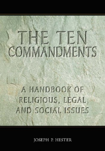 9780786426584: The Ten Commandments: A Handbook of Religious, Legal and Social Issues