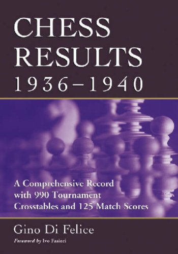 9780786427482: Chess Results, 1936-1940: A Comprehensive Record With 9905 Tournament Crosstables And 125 Match Scores