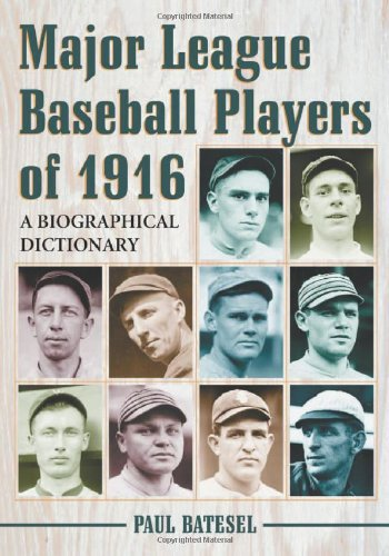 Major League Baseball Players of 1916: A Biographical Dictionary