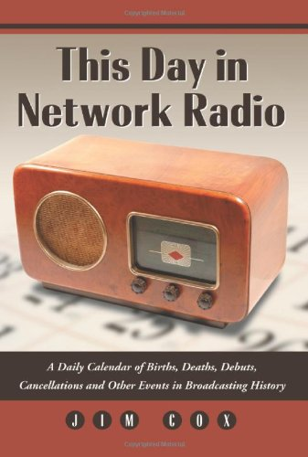 9780786438488: This Day in Network Radio: A Daily Calendar of Births, Deaths, Debuts, Cancellations and Other Events in Broadcasting History