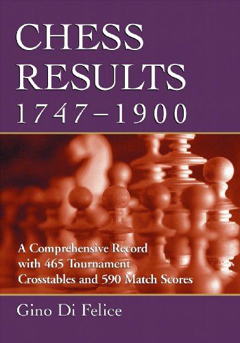 Chess Results, 1747-1900: A Comprehensive Record with 465 Tournament Crosstables and 590 Match ...
