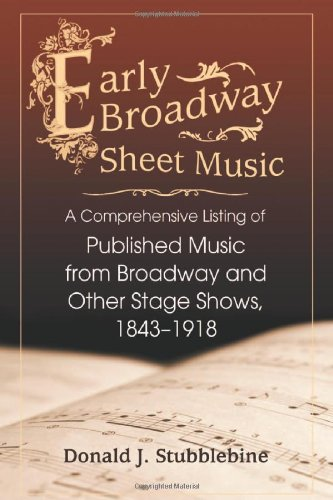 9780786447053: Early Broadway Sheet Music: A Comprehensive Listing of Published Music from Broadway and Other Stage Shows, 1843-1918