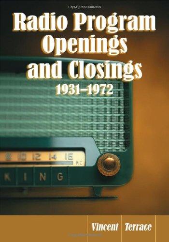 9780786449255: Radio Program Openings and Closings, 1931-1972