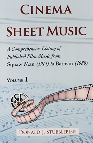 9780786467716: Cinema Sheet Music: A Comprehensive Listing of Published Film Music from Squaw Man (1914) to Batman (1989)