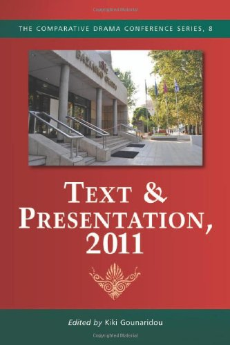 9780786469956: Text & Presentation, 2011 (Comparative Drama Conferences)