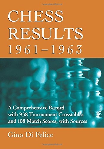 9780786475728: Chess Results, 1961-1963: A Comprehensive Record with 938 Tournament Crosstables and 108 Match Scores, with Sources