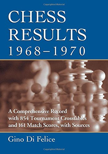 9780786475742: Chess Results, 1968–-1970: A Comprehensive Record with 854 Tournament Crosstables and 161 Match Scores, with Sources