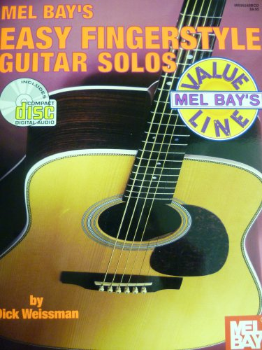 9780786626953: Easy Fingerstyle Guitar Solos [Songbook, Includes CD]