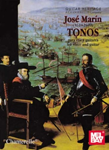9780786627219: Jose Marin - Tonos (1619-1699 for Voice and Guitar)
