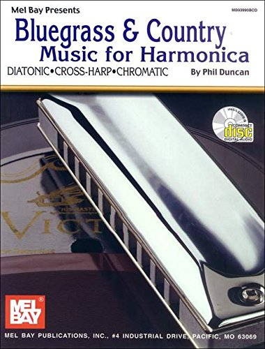 9780786628735: Mel Bay's Bluegrass and Country Music for Harmonica (Book & CD)