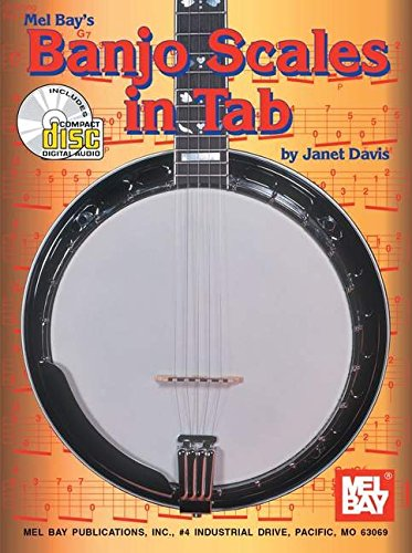Mel Bay Banjo Scales in Tab Book/CD Set: Janet Davis