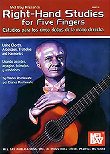 9780786659654: Mel Bay Presents Right-Hand Studies for Five Fingers/ Estudios para los cinco dedos de la mano derecha