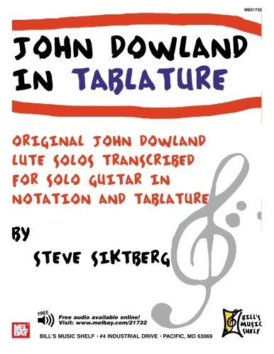 9780786678372: JOHN DOWLAND IN TABLATURE: 40 SOLOS FOR GUITAR