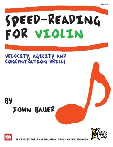 9780786679331: Speed Reading For Violin: Velocity, Agility & Concentration Drills