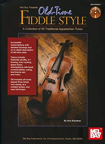 9780786681570: Old-Time Fiddle Style Book/CD Set - A Collection of 35 Traditional Appalachian Tunes