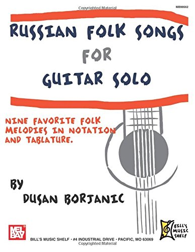 9780786682447: Russian Folk Songs For Guitar Solo