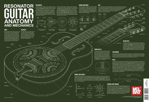 9780786685264: Resonator Guitar Anatomy and Mechanics Wall Chart (Anatomy Wall Chart)