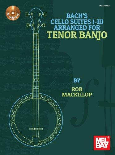 9780786685592: Bach's Cello Suites I-III Arranged for Tenor Banjo