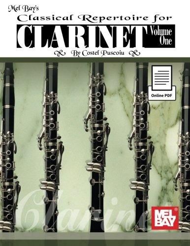 9780786687152: Classical Repertoire for Clarinet + Online PDF: 1