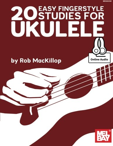 9780786687220: Rob Mackillop: 20 Easy Fingerstyle Studies for Ukulele (Book/Online Audio) +Telechargement