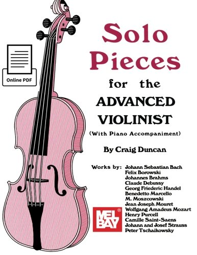 9780786690589: Solo Pieces for the Advanced Violinist