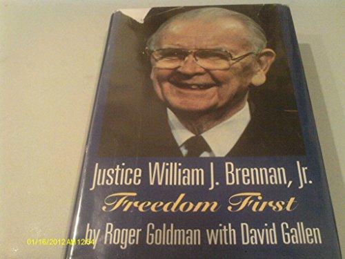 9780786700691: Justice William J. Brennan, Jr: Freedom First