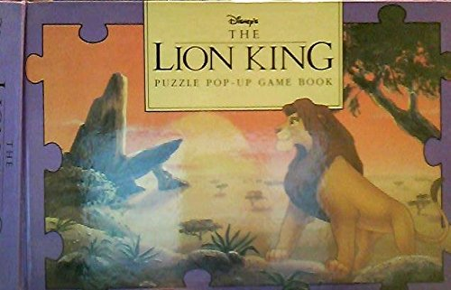 The Lion King Puzzle PopUp Game Book by Disney Press created