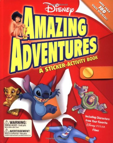 Disney Amazing Adventures: A Sticker-Activity Book: Disney Book Group