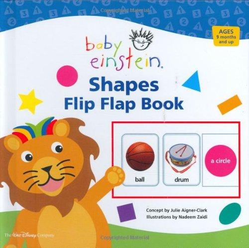 BABY EINSTEIN SHAPES FLIP FLAP BOOK