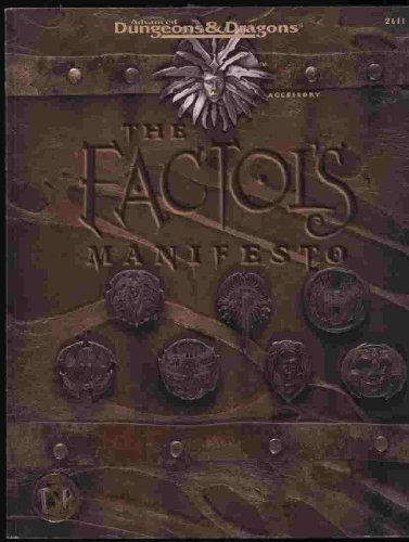 9780786901418: The Factol's Manifesto